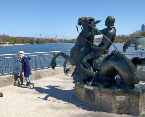 Wöhrder See Nürnberg Meergott Springbrunnen