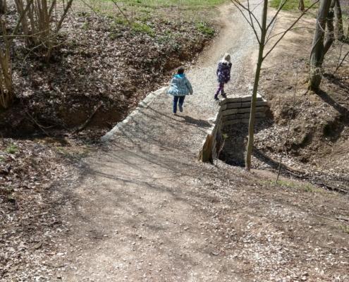 Kirschblütenweg Kalchreuth sehr schwierige Stelle