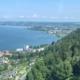 Blick aus der Pfänderbahn auf den Bodensee