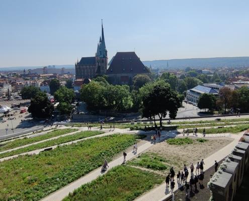 Erfurter Dom vom Petersberg aus gesehen