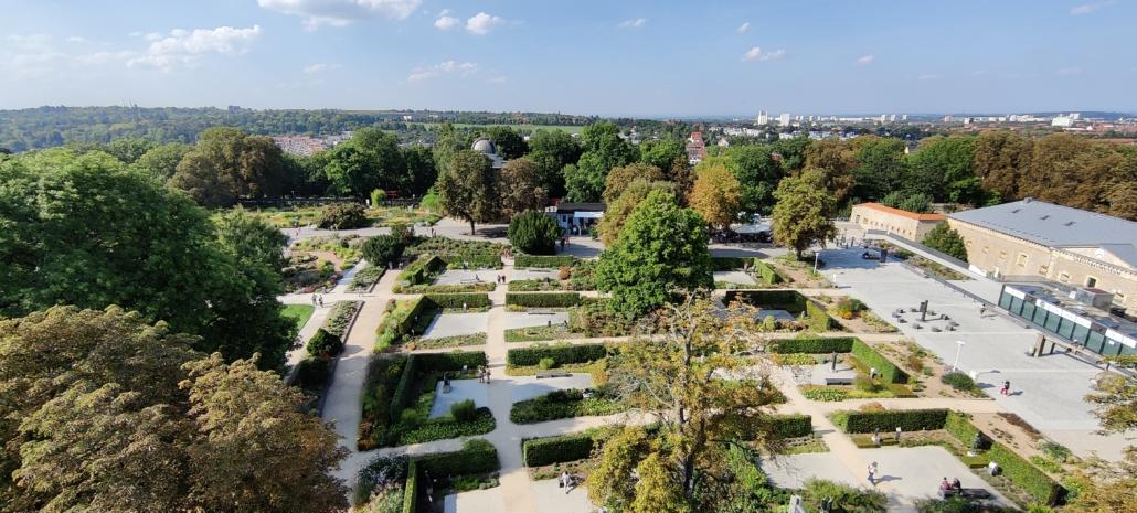 Skulpturenpark im egapark von oben
